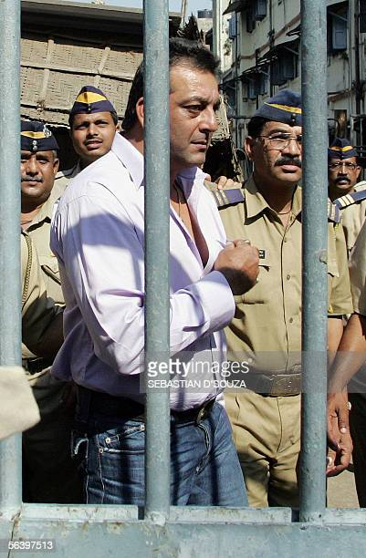 Indian film star Sanjay Dutt leaves after attending a special court in Mumbai 09 December 2005 For the first time Abu Salem one of the most feared...