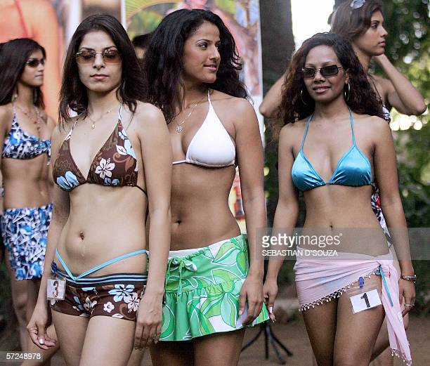 Indian models display creations at the announcement of Gladrags Mega Model and Manhunt Contest 2006 in Mumbai 04 April 2006 Gladrags are best known...