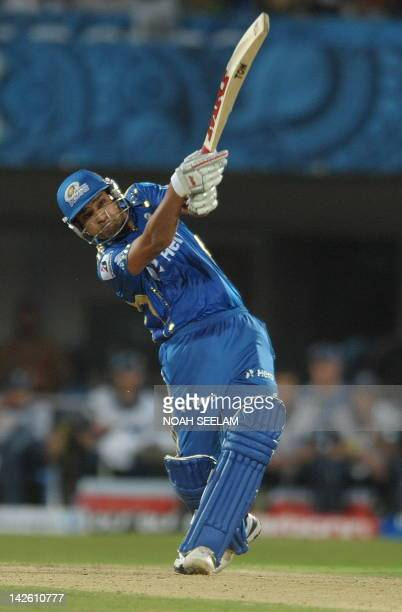 Mumbai Indians Rohit Sharma plays a shot during the IPL Twenty20 match between Deccan Chargers and Mumbai Indians at Dr YS Rajasekhara Reddy Cricket...