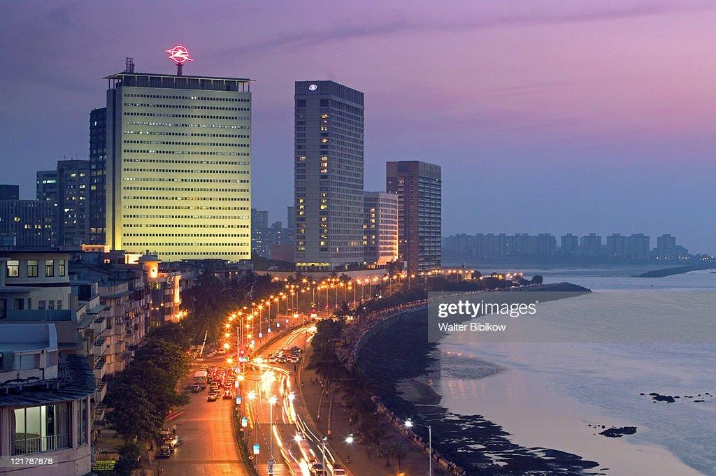 Mumbai, Marine Drive, Evening view : Foto de stock