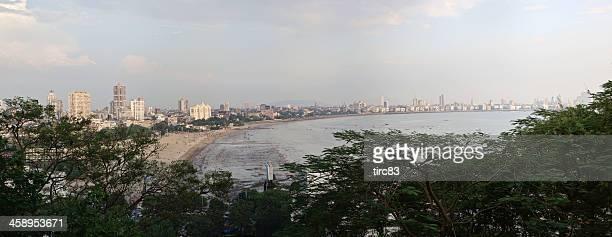 mumbai marine drive panorama - editorial stock pictures, royalty-free photos & images