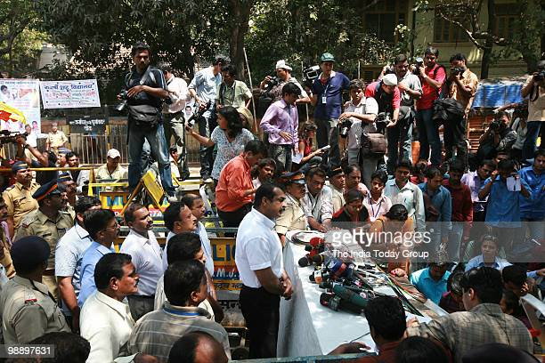 Mumbai Police Jt CP Himanshu Roy addresses the media after the announcement of death penalty to Ajmal Amir Kasab in 2008 Mumbai attacks case