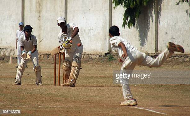 Mumbai schoolboy Pranav Dhanawade hits a shot as he smashed a 117yearold record for the highest number of runs scored in one innings in Mumbai on...
