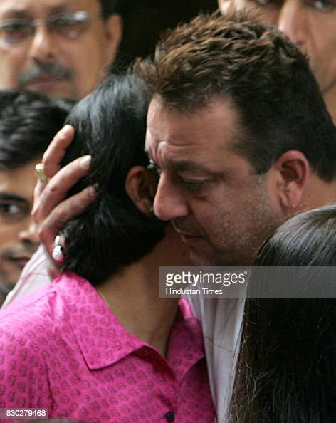 Sanjay Dutt embraces his sister Namrata Dutt and Priya ...
