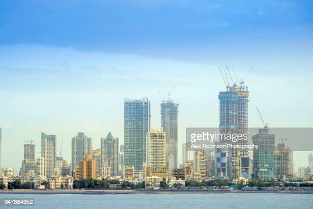 Mumbai skyline and Arabian Sea