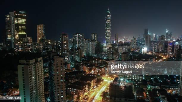 mumbai skyline - antilia and imperial towers - mumbai stock pictures, royalty-free photos & images