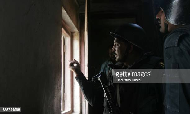 Black Cat Commando takes position in a building near Nariman house Colaba