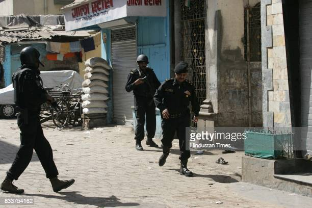 Black cat Commandos during the operation outside Nariman House at Colaba