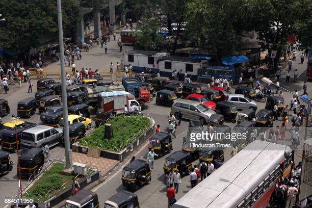 Mumbai Traffic Jam Autorickshaw A major chaos was reported from Andheri east after the road ouside the railway station was closed and the traffic...