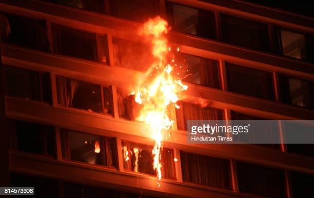 26/11 Mumbai Under Terror Attack Firing Fire blast at The Trident Hotel after Cammandos attack on Terrorists on Friday in Mumbai