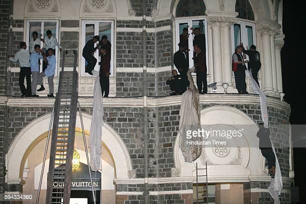 26/11 Mumbai Under Terror Attack Firing Hostages and Guest coming out of Taj Hotel