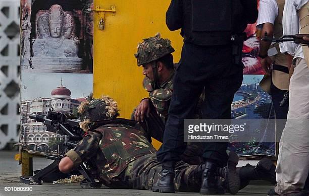 26/11 Mumbai Under Terror Attack Firing NSG Commandos THE LAST OF THE TERRORISTS WERE FIRING FROM THIS 1ST FLOOR CORNER ROOM IN OLD WING OF TAJ...