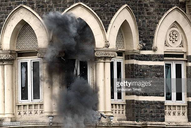 26/11 Mumbai Under Terror Attack Firing THE LAST OF THE TERRORISTS WERE FIRING FROM THIS 1ST FLOOR CORNER ROOM IN OLD WING OF TAJ PALACE COMMANDOS...