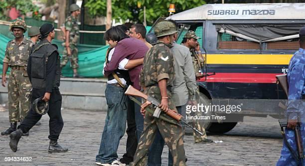 Mumbai under Terror attack NSG Anti Terrorist squad congratulate after a successful operation at the Taj Mahal Hotel in Mumbai