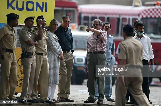 Mumbai under Terror attack Ratan Tata in front of Taj on Saturday Morning