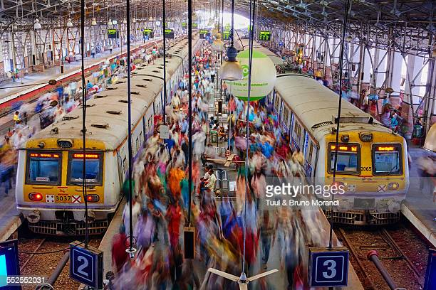 mumbai, victoria terminus railways station - mumbai stock pictures, royalty-free photos & images