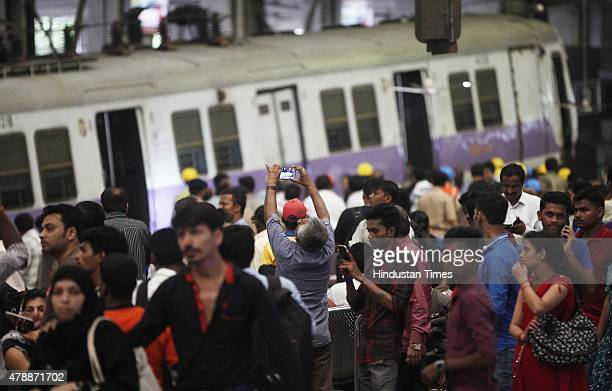 Mumbai Western Railway suburban train allegedly failed its brake and rammed into the platform number 3 of Churchgate station leaving a woman...