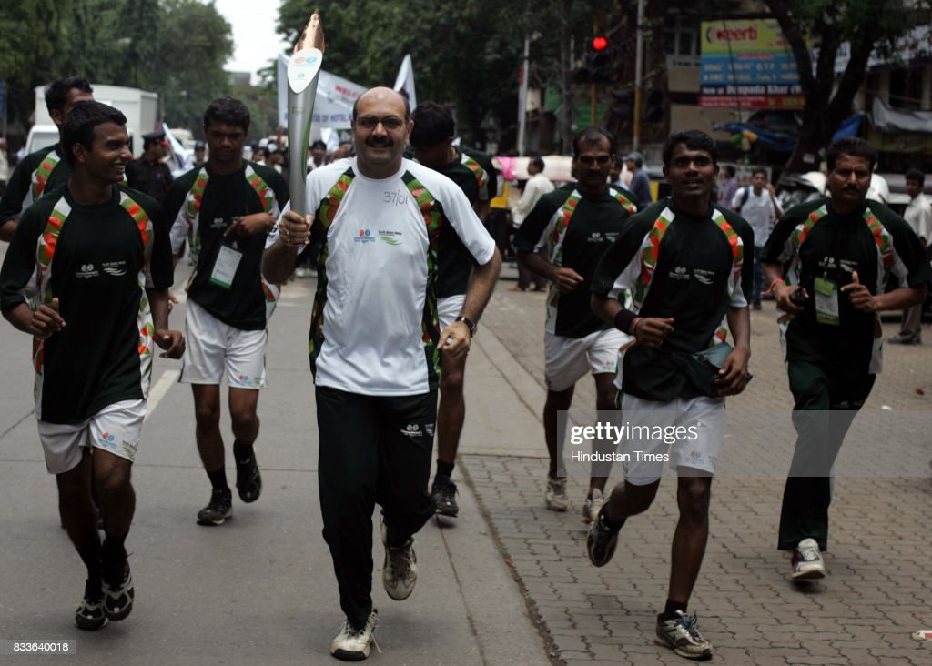 Mumbais sole chess Grandmaster Pravin Thipsay runs with the Commonwealth Youth Games baton near his residence in Khar on Saturday. The baton arrived in the city on Friday as part of its 8,000 km journey from Delhi to the Games venue in Pune. The Games begin on October 12.