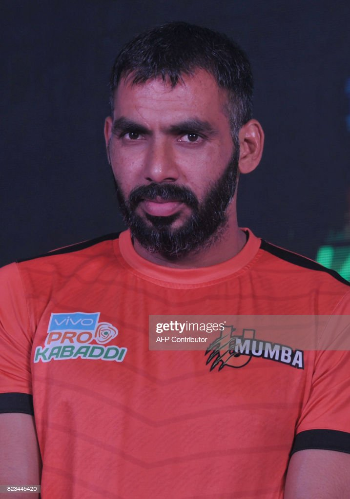 Anup kumar stock photos and pictures getty images u mumbateam kabaddi captain anup kumar poses during an event for the fifth edition of the thecheapjerseys Gallery