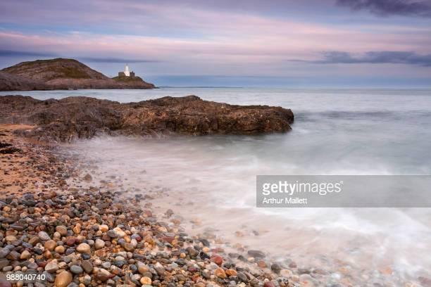 mumbles headland coast, wales, uk - mumbles stock photos and pictures