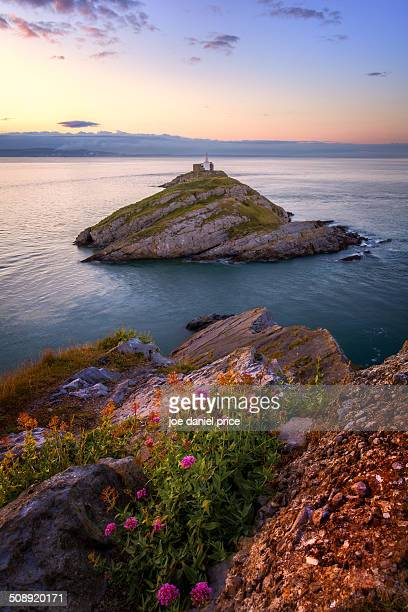Mumbles Lighthouse, Gower, Swansea, Wales