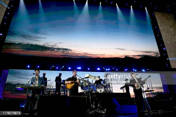 Mumford & Sons perform onstage during the 2019 iHeartRadio Music Festival at T-Mobile Arena on September 21, 2019 in Las Vegas, Nevada.