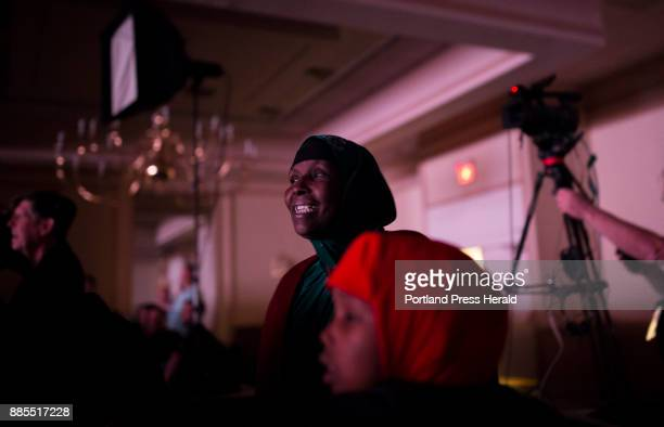 Mumina Ali Hamdia Ahmed's mother smiles as she watches her daughter on stage competing in the Miss Maine USA pageant Ali gave birth to Ahmed her...
