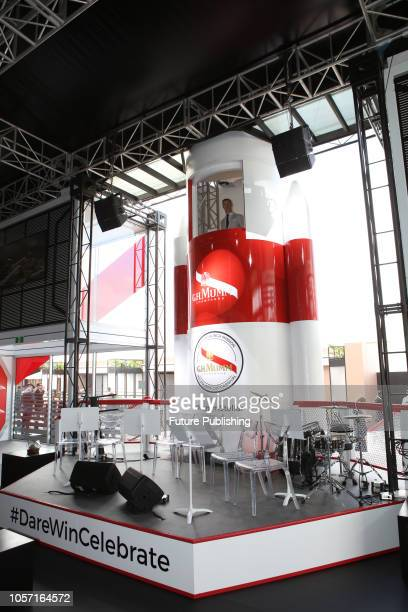 Mumm Champagne marquee at Derby Day at the 2018 Melbourne Cup Carnival