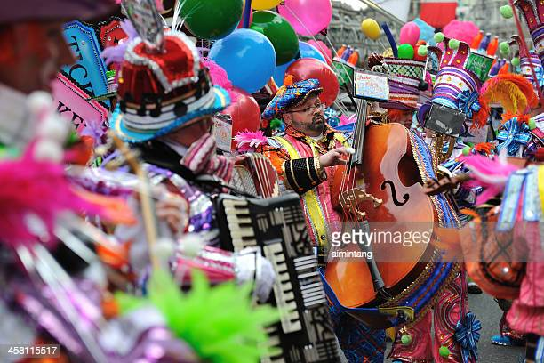 mummer's parade in philadelphia - mummers parade stock pictures, royalty-free photos & images