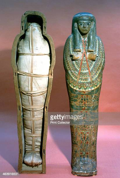 Mummy and Coffin Egyptian 21st Dynasty Located in the British Museum London
