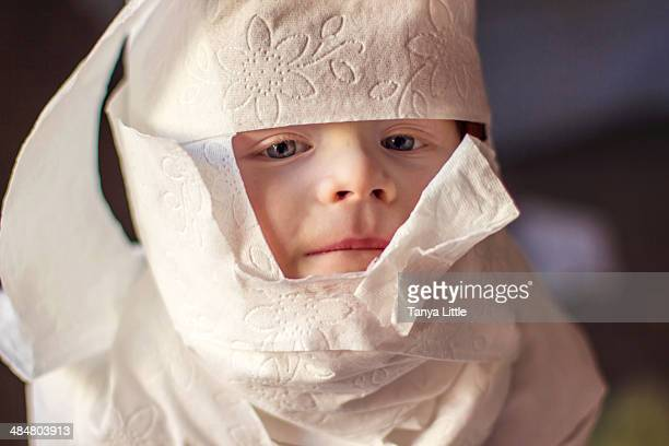 mummy - wrapped in toilet paper stock pictures, royalty-free photos & images