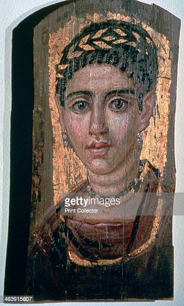 Mummy portrait of an Egyptian woman c1st3rd century The use of personalised mummy portraits of this type in Ancient Egypt began during the Roman...