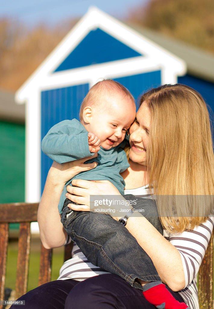 Mummy tickles : Stock Photo