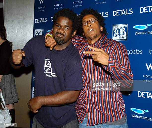 muMs da Schemer and Andre Royo during 4th Annual New York Benefit of The 24 Hour Plays at The Whiskey at W Times Square in New York City New York...