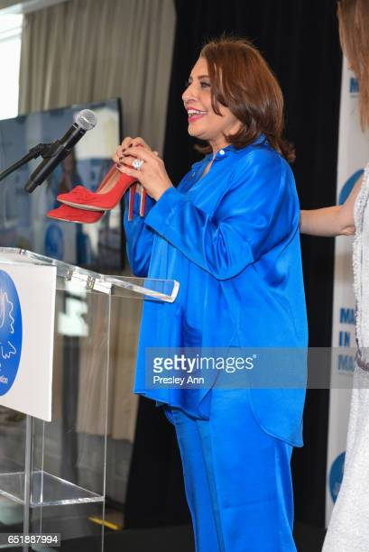 Muna Rihani AlNasser and Anne De Carbuccia attend The United Nations Women for Peace Association's Annual Awards Luncheon on March 10 2017 in New...