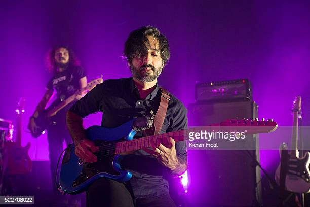 Munaf Rayani of Explosions in the Sky performs at Vicar Street on April 20, 2016 in Dublin, Ireland.
