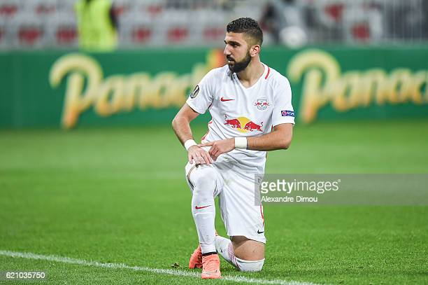 Munas Dabbur of Salzbourg during the Uefa Europa League match between OGC Nice and Red Bull Salzburg at Allianz Riviera Stadium on November 3 2016 in...