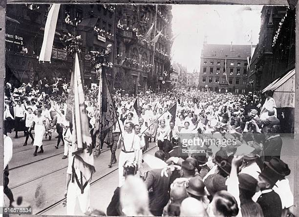 7/15/1923 Munchen Bavaria The principle event of the German Turnfest was held here and fully two hundred and fifty thousand took part in this annual...
