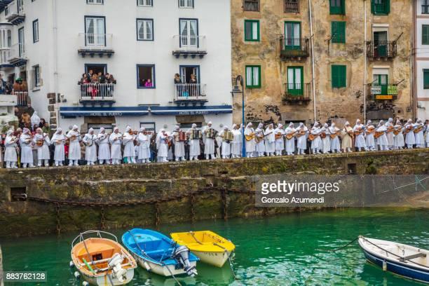 Mundaka Carnival in Basque country in Spain