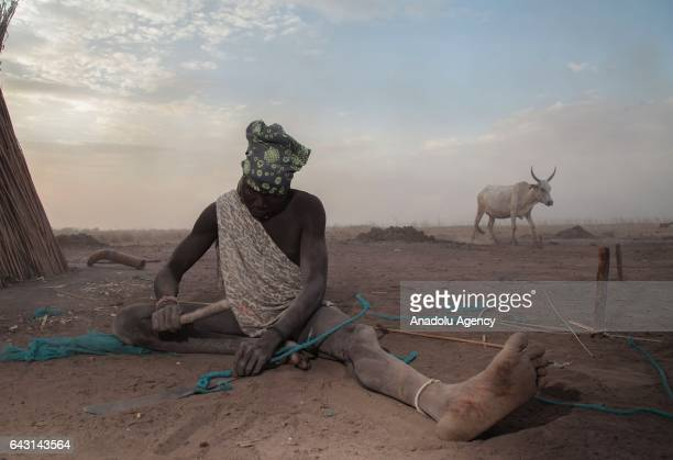 Mundari man is seen in Terekeka town of Juba South Sudan on February 9 2017 Munda people a small ethnic group of South Sudan provide their lives with...
