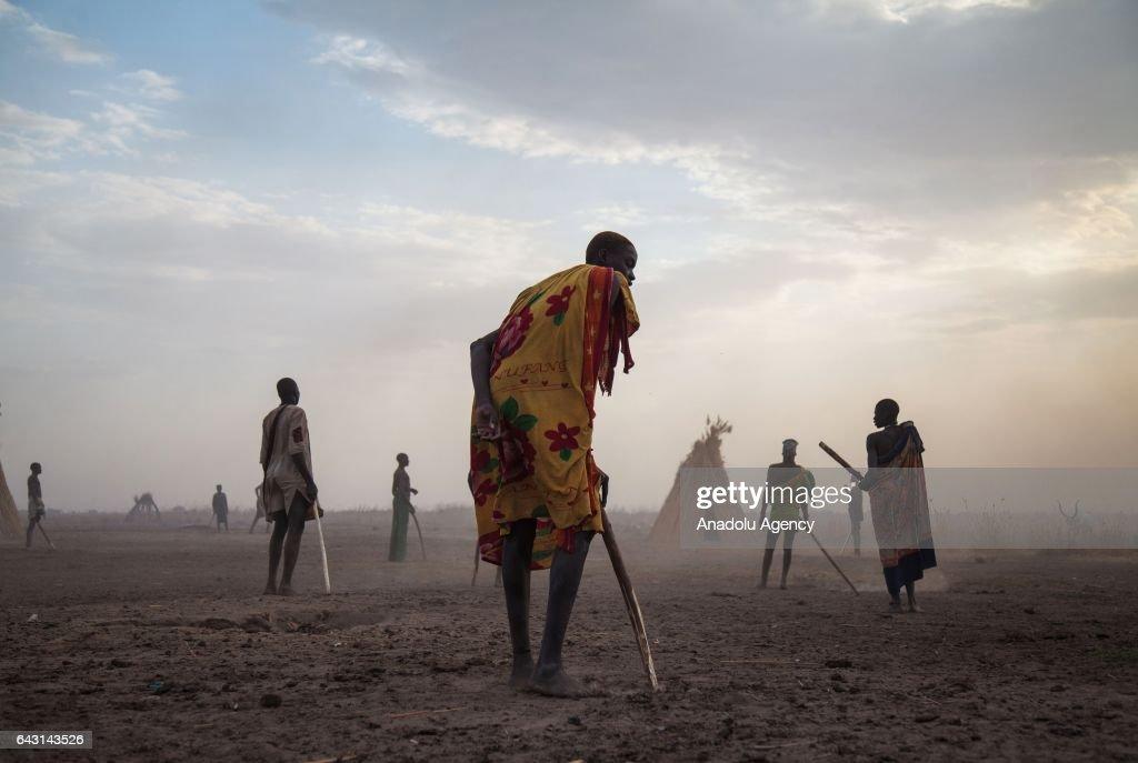 Mundari people are seen in Terekeka town of Juba, South Sudan on
