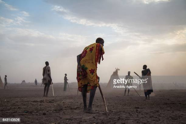 Mundari people are seen in Terekeka town of Juba South Sudan on February 9 2017 Munda people a small ethnic group of South Sudan provide their lives...
