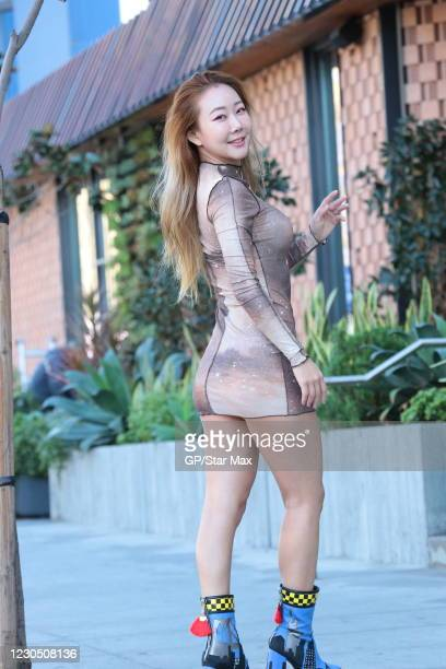 Munelin is seen on January 9, 2021 in Los Angeles, California.