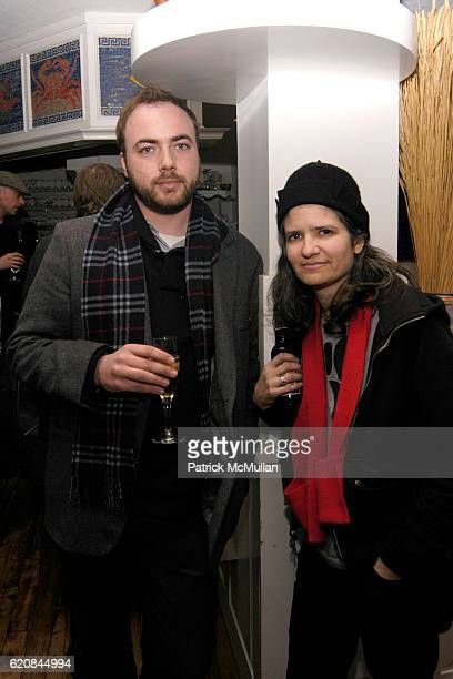 Mungo Thomson and Francis Stark attend Whitney Biennial Artists Party at Trata Estiatoria on March 8 2008 in New York City