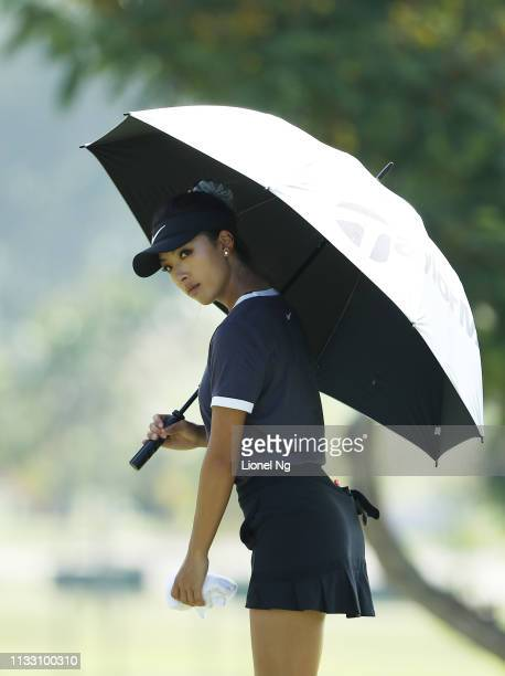 Muni He of China looks on during the third round of the HSBC Women's World Championship at Sentosa Golf Club on March 02 2019 in Singapore
