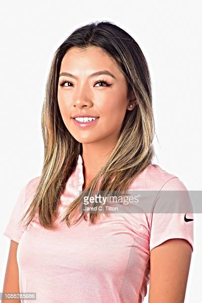 Muni He of China poses for a portrait during the LPGA Q Series Head Shots session at Pinehurst Resort on October 29 2018 in Pinehurst North Carolina