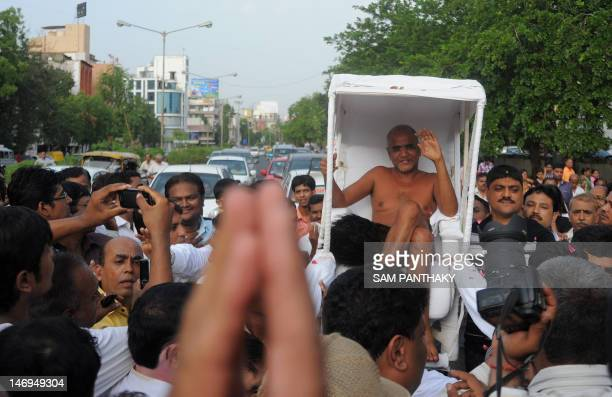 Muni Shri Tarun Sagar Ji Maharaj the first Digambar Saint who is popularly known as the revolutionary Saint in the Jain community is carried naked as...