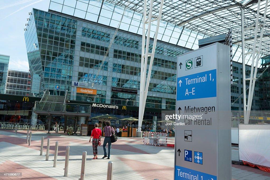 Stock photo airport munich germany february terminal l in munich