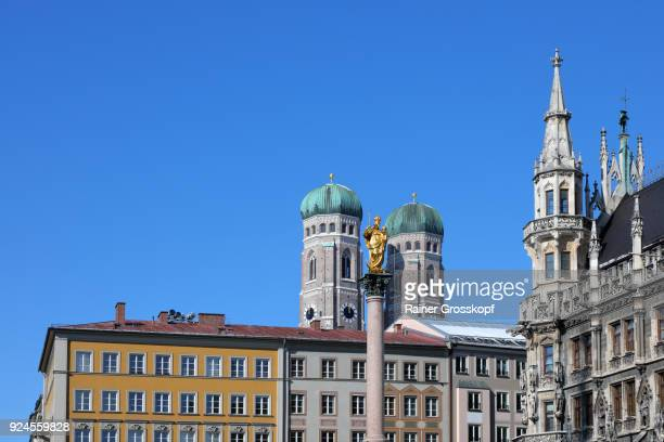 munich, bavaria, germany – february 25, 2018: view from marienplatz - rainer grosskopf stock pictures, royalty-free photos & images