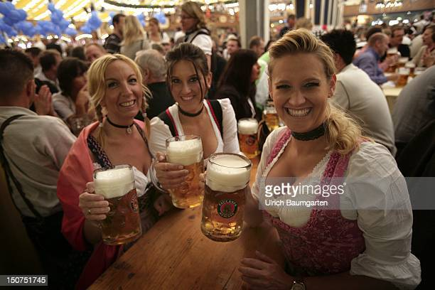 GERMANY MUNICH Munich Beer Festival Oktoberfest Muenchen Who looks only to the beer